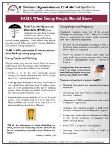 FASD What young people should know